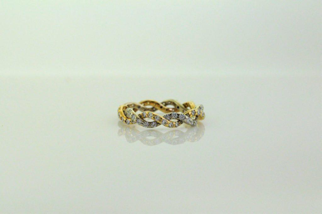 White Yellow Gold Diamond Ring