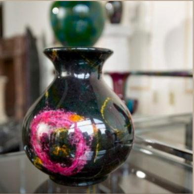 7-color jade vase
